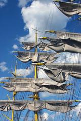 Tall ship during Sail Boston 2009 in Boston Harbor