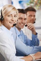 Customer service receicving calls