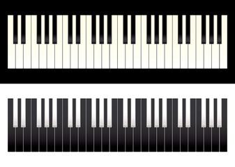 Piano keyboard contrast