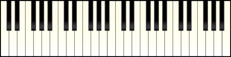 piano keyboard long