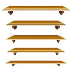 set of shelfs in vector mode for decor
