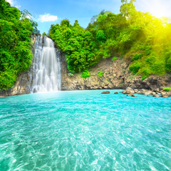 Printed kitchen splashbacks Waterfalls Waterfall