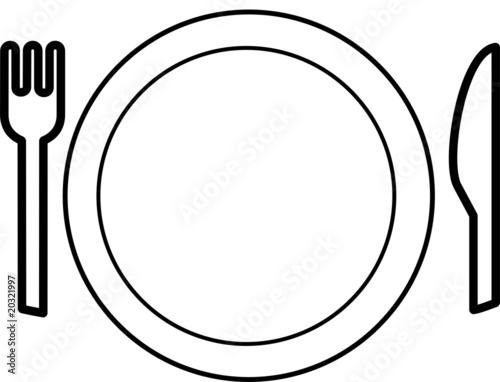 Assiette et couverts photo libre de droits sur la banque d 39 images image 20321997 - Assiette dessin ...