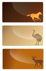 animals business card