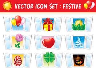 Set holiday icons
