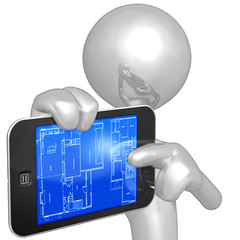 Touch Screen Home Construction Blueprints