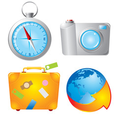 Set travel icons