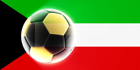 Flag of Kuwait soccer