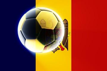 Flag of Moldova soccer