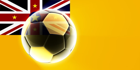 Flag of Niue soccer