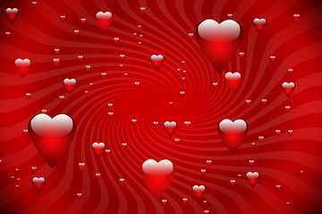 beautiful valentine card background with flying heart