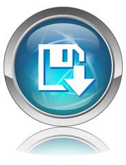 "Bouton web rond ""TELECHARGER"" (download internet ligne)"