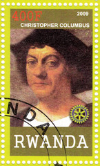 stamp of Christopher Columbus