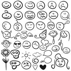 Handgezeichnete Smilies