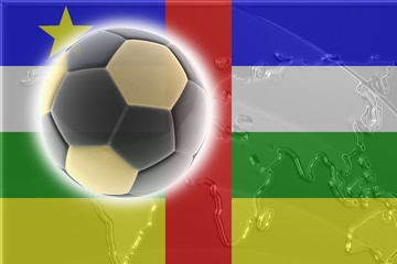 Flag of Central African Republic soccer