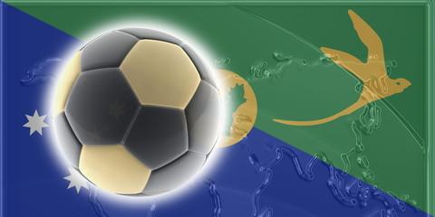 Christmas Islands flag soccer