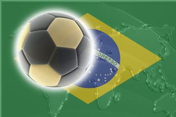 Flag of Brazil soccer