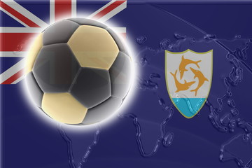 Flag of Anguilla soccer