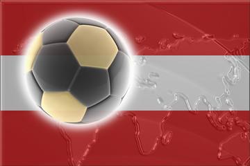 Flag of Austria soccer