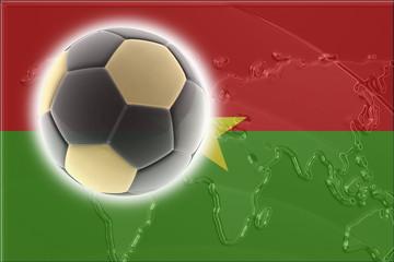 Burkina Faso flag soccer