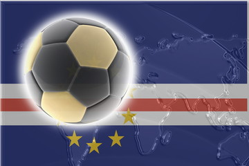 Flag of Cape Verde soccer