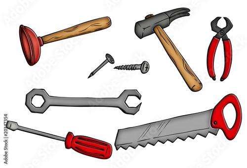 """""""Werkzeug, Hammer, Säge, Pömpel, Zange, Schrauben ..."""