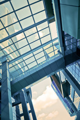 Futuristic architectural detail corporate building