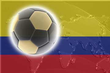 Flag of Colombia soccer