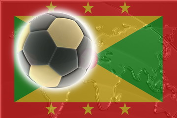 Flag of Grenada soccer