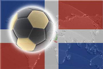 Flag of Dominican Republic soccer