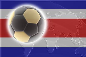 Flag of Costa Rica soccer