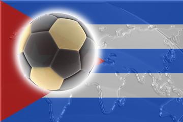 Cuba flag soccer