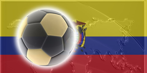 Flag of Ecuador soccer