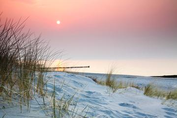 Am Strand Sonnenuntergang Entspannung