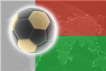 Flag of Madagascar soccer