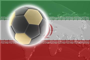 Flag of Iran soccer