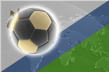 Flag of Lesotho soccer