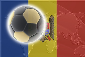 Flag of Moldova soccer