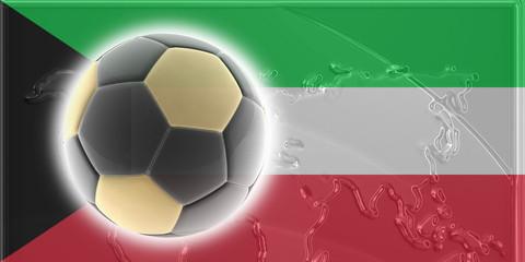Flag of Kuwait soccer
