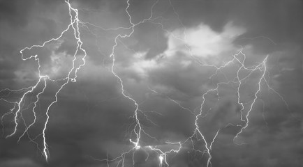 Composite abstract picture of Lightning