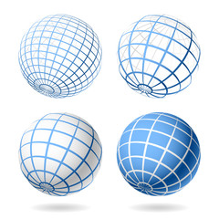 Globe. Vector design elements.