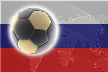 Flag of Russia soccer
