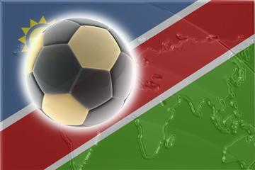 Flag of Namibia soccer