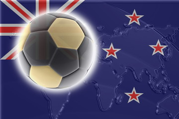 Flag of New Zealand soccer