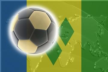 Flag of Saint Vincent and Grenadines soccer