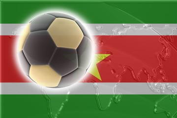 Flag of Suriname soccer