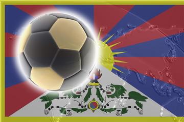 Tibet flag soccer