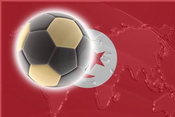 Flag of Tunisia soccer