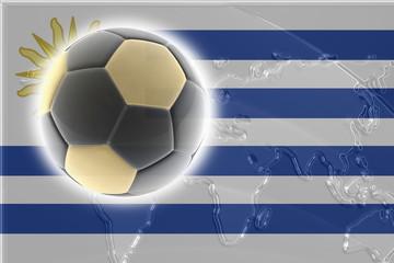 Flag of Uruguay soccer