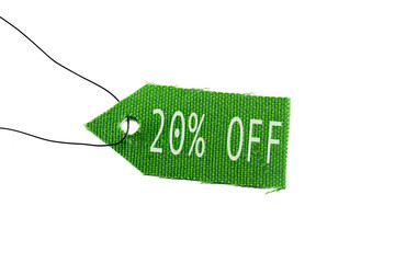 green tag 20% off